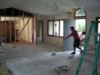 Living/Dining/Entry (during), Mariotti Renovation 2006
